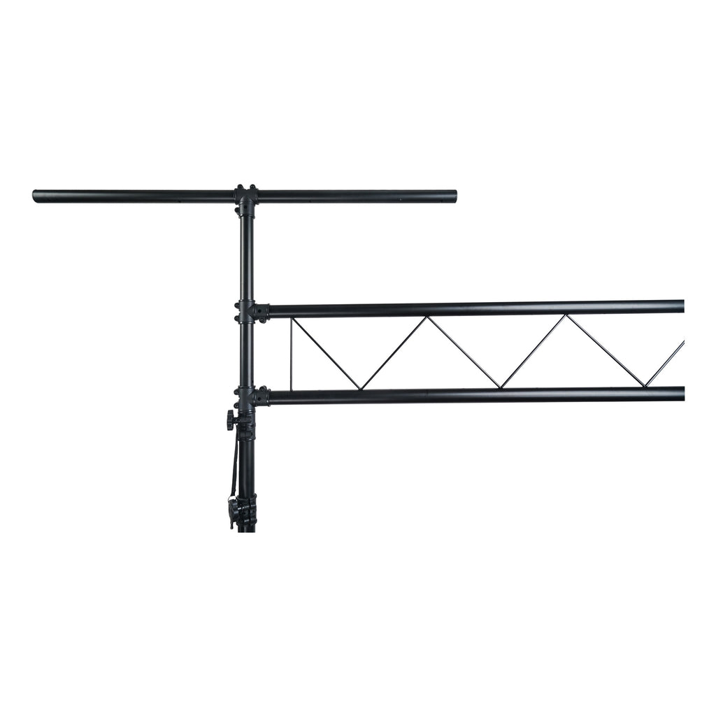 Sound Town STLS-001 Lighting Stand with Truss, Portable Lighting Truss System with T-Bars - Closeup 1