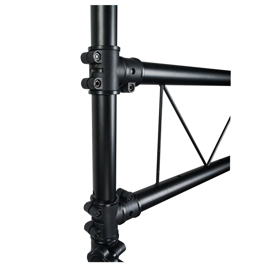 Sound Town STLS-001 Lighting Stand with Truss, Portable Lighting Truss System with T-Bars - Zoomed In