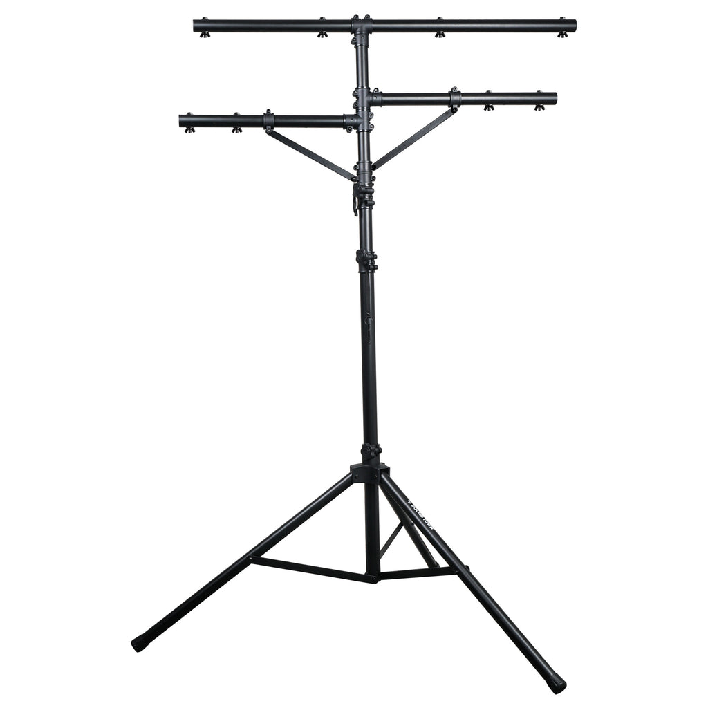 Sound Town STLS-011 Lighting Stand with Side Bars and Tripod Base- 3 telescoping shafts