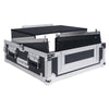 "Sound Town STMR-2ULT 2U (2 Space) PA/DJ Glide Style Road/Rack ATA Case with 11U Slant Mixer Top, 20"" Rackable Depth and Laptop Platform - left panel"
