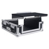 "Sound Town STMR-2ULT 2U (2 Space) PA/DJ Glide Style Road/Rack ATA Case with 11U Slant Mixer Top, 20"" Rackable Depth and Laptop Platform - left panel 2"