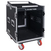 Sound Town STMR-S12UWT 12U (12 Space) PA/DJ Rack/Road ATA Case with 11U Slant Mixer Top, 20'' Rackable Depth, DJ Work Table and Casters - without Top and Front Cover Lids Right Panel
