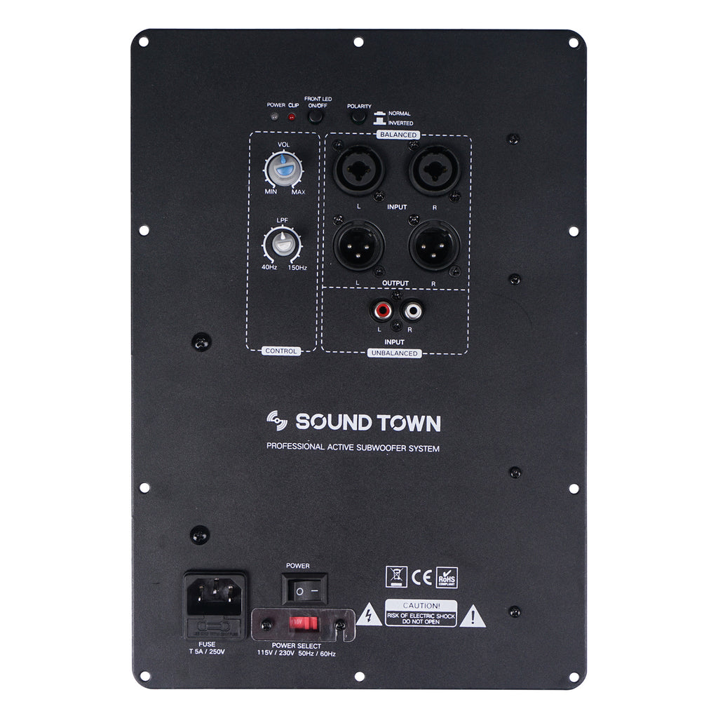 Sound Town STPAS-600 Class-AB 350W RMS Plate Amplifier for PA DJ Subwoofer Cabinets w/ LPF