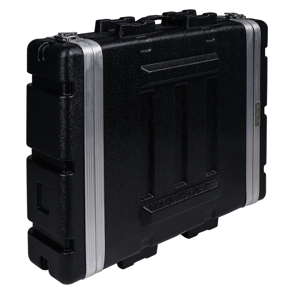 "Sound Town STRC-A2U Lightweight and Compact 2U (2 Space) PA DJ ABS Rack/Road Case, 19"" Depth and Heavy-Duty Latches 2"