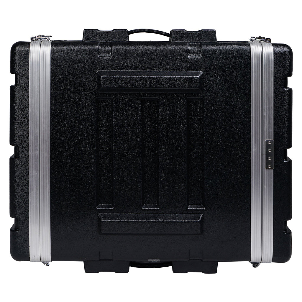"Sound Town STRC-A2U Lightweight and Compact 2U (2 Space) PA DJ ABS Rack/Road Case, 19"" Depth and Heavy-Duty Latches 3"