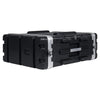 "Sound Town STRC-A4U Lightweight and Compact 4U (4 Space) PA DJ ABS Rack/Road Case, 19.25"" Depth and Heavy-Duty Latches 1"