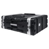 "Sound Town STRC-A4U Lightweight and Compact 4U (4 Space) PA DJ ABS Rack/Road Case, 19.25"" Depth and Heavy-Duty Latches 5"