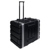 "Sound Town STRC-A8UT Lightweight and Compact 8U (8 Space) PA DJ ABS Rack/Road Case, 19"" Depth, Retractable Handle, Wheels and Heavy-Duty Latches - 2"
