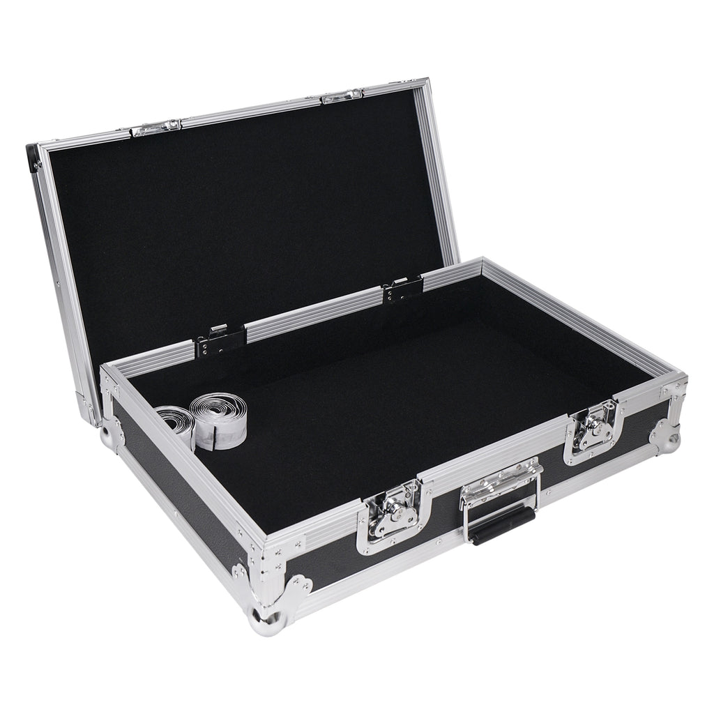 "Sound Town STRC-PD1 Guitar Pedalboard ATA Plywood Road Case, 24.7"" x 14"" with Heavy-Duty 3M Velcro"
