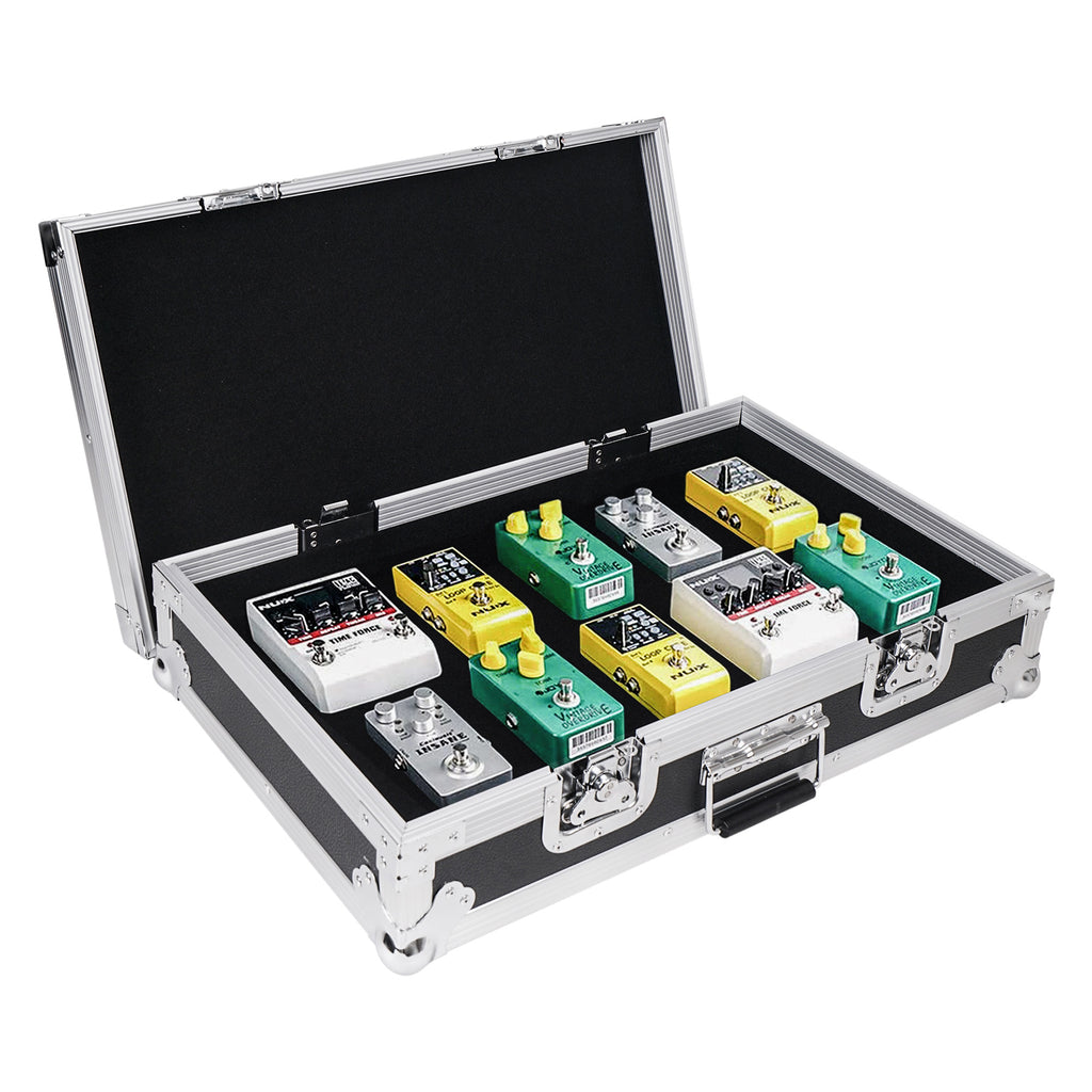 "Sound Town STRC-PD1 Guitar Pedalboard ATA Plywood Road Case, 24.7"" x 14"", Product Demonstration, Holds 8, 9 or 10 Pedals"