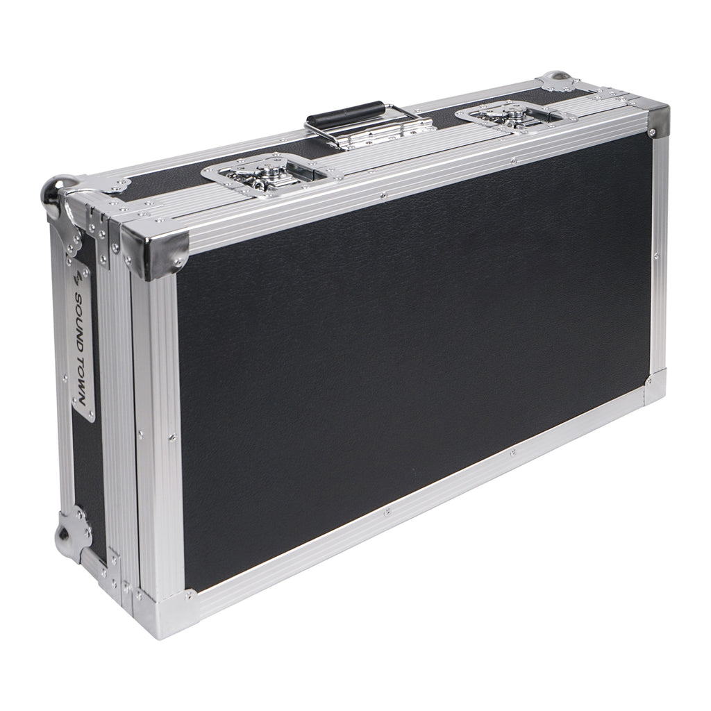 "Sound Town STRC-PD1 Guitar Pedalboard ATA Plywood Road Case, 24.7"" x 14"" for Travel and on the Road Events"