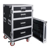 Sound Town STRC-PROWT4D 4-Drawer Customizable Stage and Studio Utility Equipment Workstation Storage Road Case - Tool Organizer