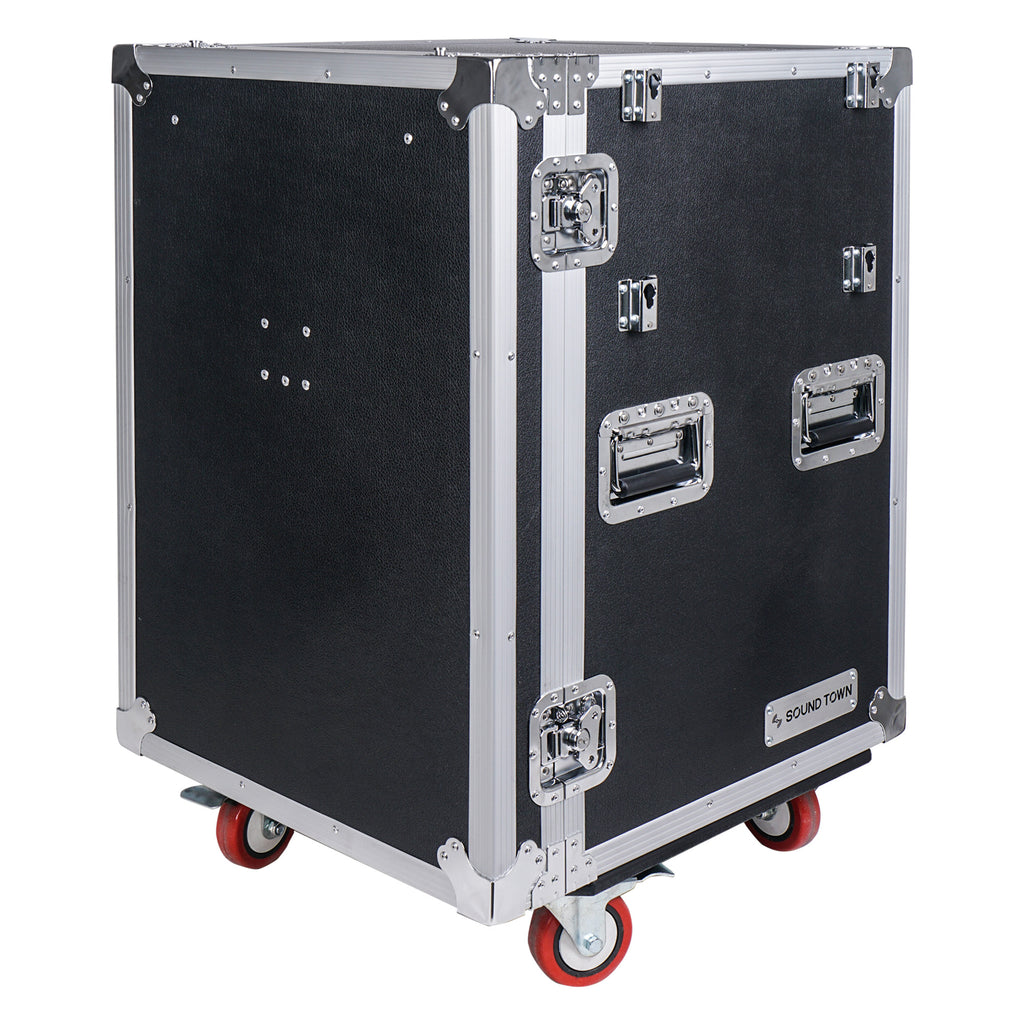 Sound Town STRC-PROWT4D 4-Drawer Customizable Stage and Studio Utility Equipment Workstation Storage Road Case with Wheels, Casters