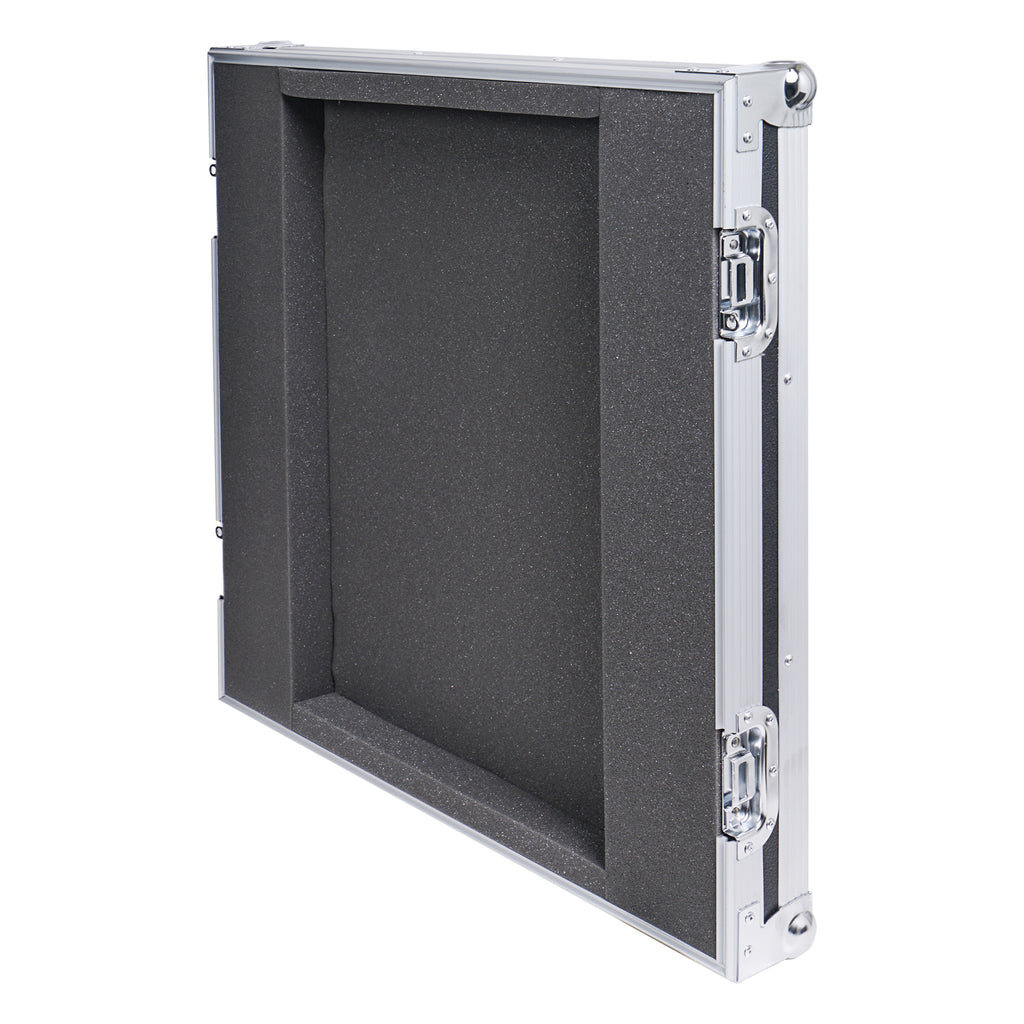 "Sound Town STRC-SP8UW 8U (8 Space) PA/DJ Shock Mount Rack/Road ATA Case with 17"" Rackable Depth and Casters - Lid"