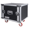 "Sound Town STRC-SP8UW 8U (8 Space) PA/DJ Shock Mount Rack/Road ATA Case with 17"" Rackable Depth and Casters"