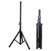 Sound Town STSD-48B-PAIR 2-Pack Universal Tripod Speaker Stands with Adjustable Height, 35mm Compatible Insert, Locking Knob and Shaft Pin, Black, Collapsed