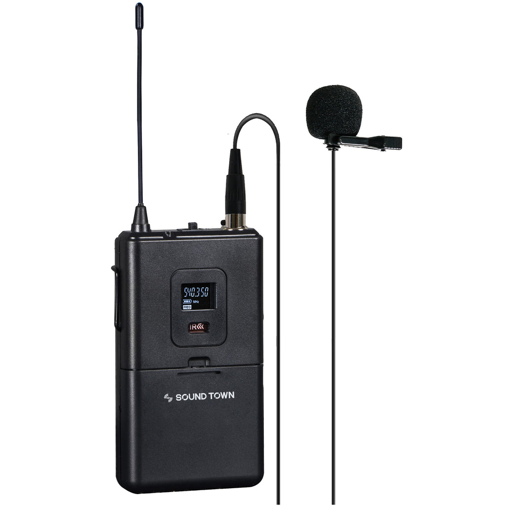 Sound Town SWM26-BL Bodypack Transmitter with Lavalier Microphone Replacement for SWM26-U2 Wireless Microphone Systems