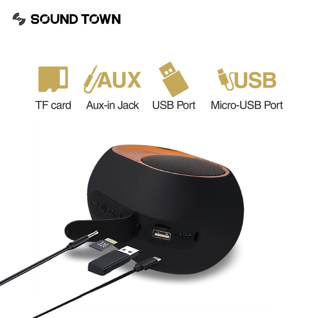 Sound Town X6 Series Waterproof Portable Bluetooth Speaker, TWS Bluetooth, IPX54, Stereo Sound, Built-in Mic for Phone Calls, for Home and Outdoor - TF Card, 3.5mm AUX, USB, Micro-USB Inputs