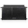 Sound Town ZETHUS-110PWX2 ZETHUS Series 1200W Powered Line Array Speaker System with Two 10-inch Powered Line Array Speakers, Black for Installation, Live Sound, Bar, Club, Church - Front Panel