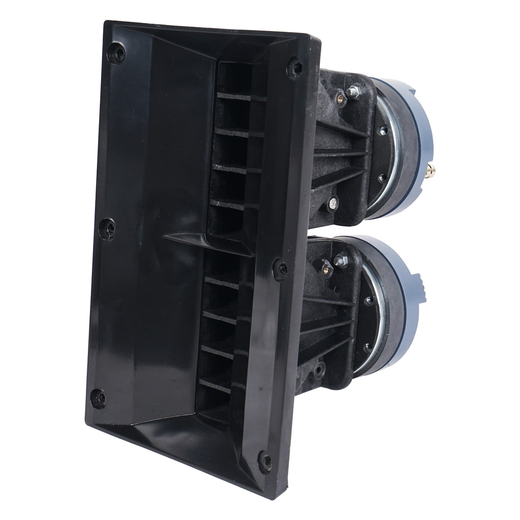 Sound Town ZETHUS-112BPWX4 ZETHUS Series 12 inch Powered 2-Way Line Array Loudspeaker System with Two Titanium Compression Drivers, Black for Live Sound, Club, Bar, Restaurant, Church and School - Horn Driver