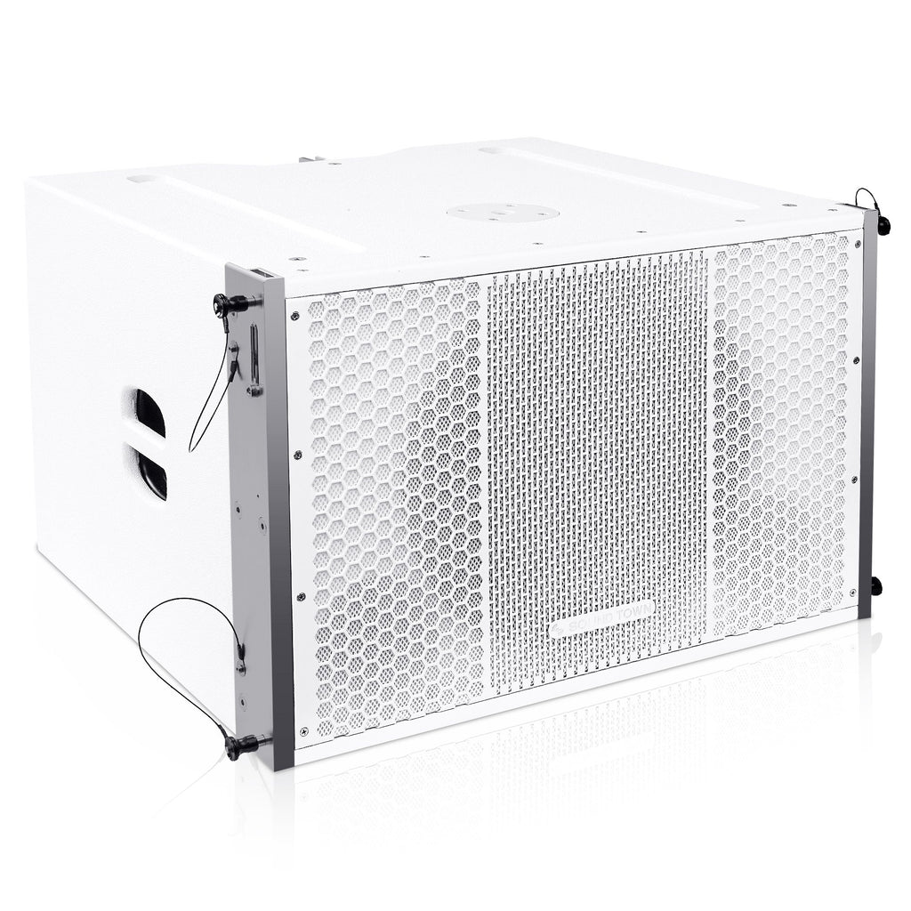 "Sound Town ZETHUS-115SWPW ZETHUS Series 15"" 1000W Powered Line Array Subwoofer, White - Right Panel"