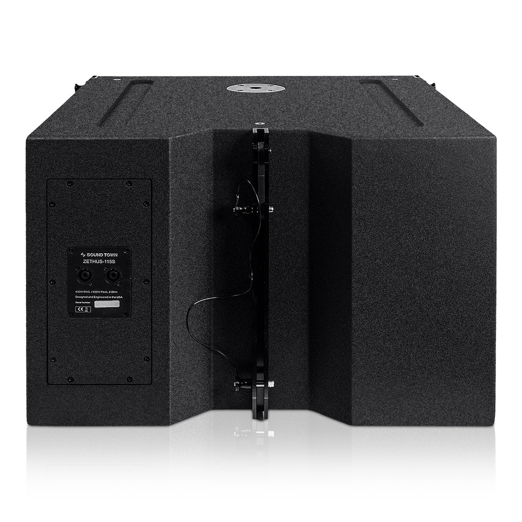 "ZETHUS-115S ZETHUS Series 15"" 1000W Passive Line Array Subwoofer - Back Panel"