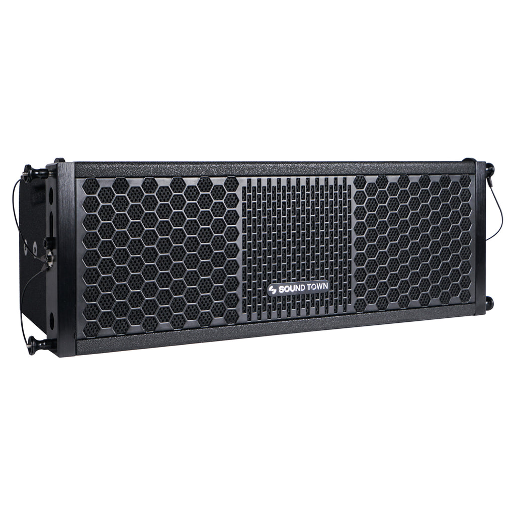 "Sound Town ZETHUS-205V2 ZETHUS Series 2 X 5"" Line Array Loudspeaker System with Titanium Compression Driver, Black - Right View"