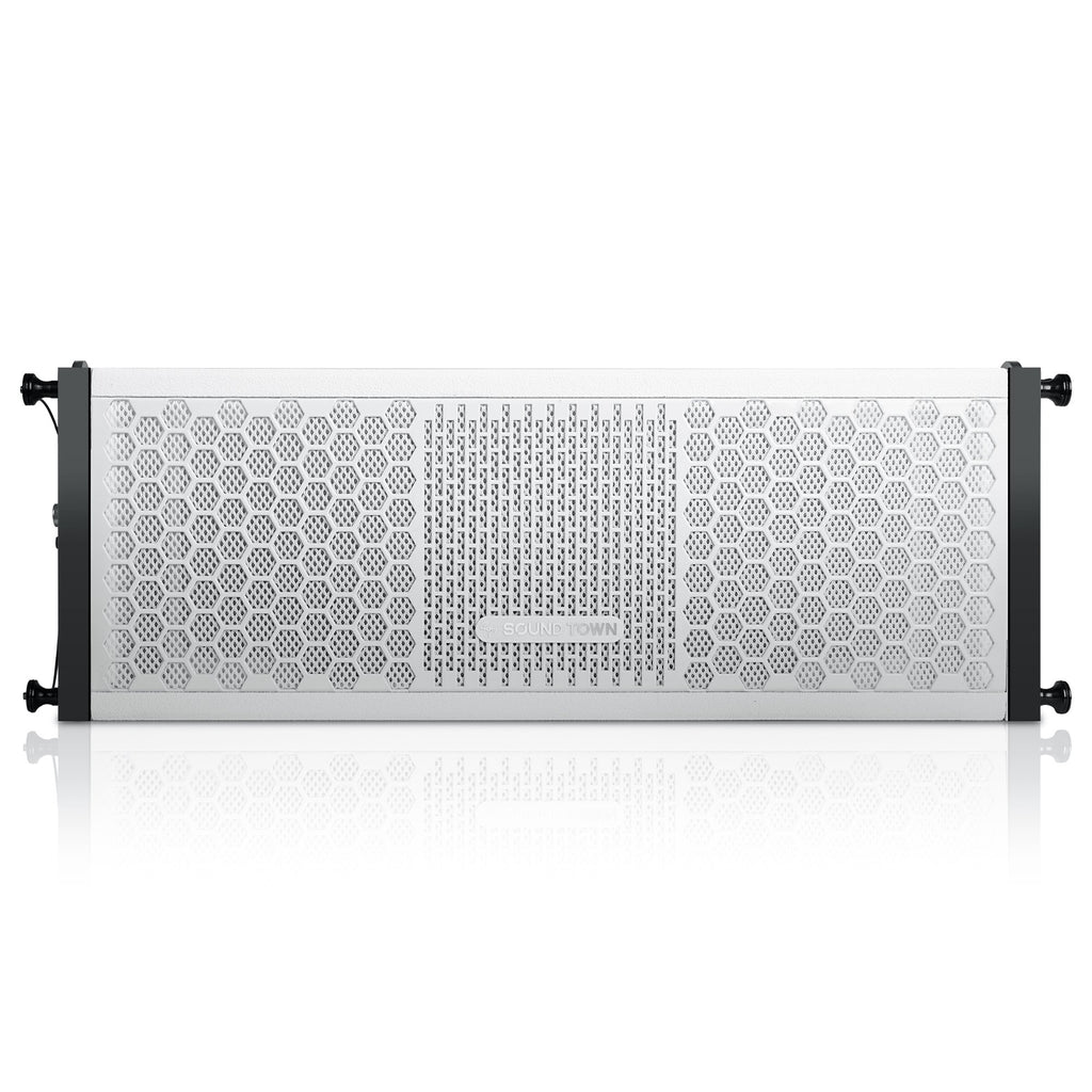 "ZETHUS-205WV2 ZETHUS Series Dual 5 Inch (2 X 5"") Line Array Loudspeaker System with Titanium Compression Driver, White - Front Panel"