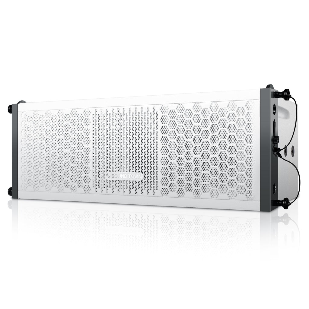 "ZETHUS-205WV2 ZETHUS Series Dual 5 Inch (2 X 5"") Line Array Loudspeaker System with Titanium Compression Driver, White - Left Panel"