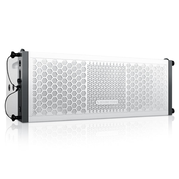 "ZETHUS-205WV2 ZETHUS Series Dual 5 Inch (2 X 5"") Line Array Loudspeaker System with Titanium Compression Driver, White - Right Panel"