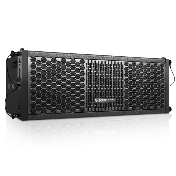 "Sound Town ZETHUS-205 ZETHUS Series Dual 5 Inch (2 X 5"") Black Line Array Loudspeaker System with Titanium Compression Driver - Right Panel"