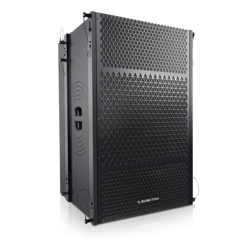 "Sound Town ZETHUS-215S ZETHUS Series Dual 15"" 1600W Line Array Subwoofer, Black - Right Panel"