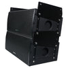 Sound Town ZETHUS-IP115S208X4 Weatherproof Line Array System with One 15-inch Waterproof Line Array Subwoofer, Four Compact Dual 8-inch Line Array PA Speakers, Full Range/Bi-amp Switchable - Stacked