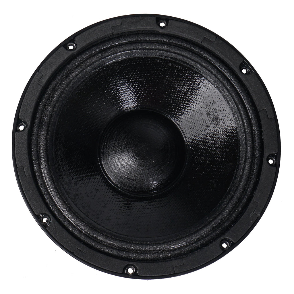 "Sound Town ZETHUS-IP208 ZETHUS Series Dual 8"" 900W Weatherproof/Waterproof Passive Line Array Loudspeaker with 3"" Titanium Compression Driver, Full Range/Bi-amp Switchable, Black - Front Woofer"