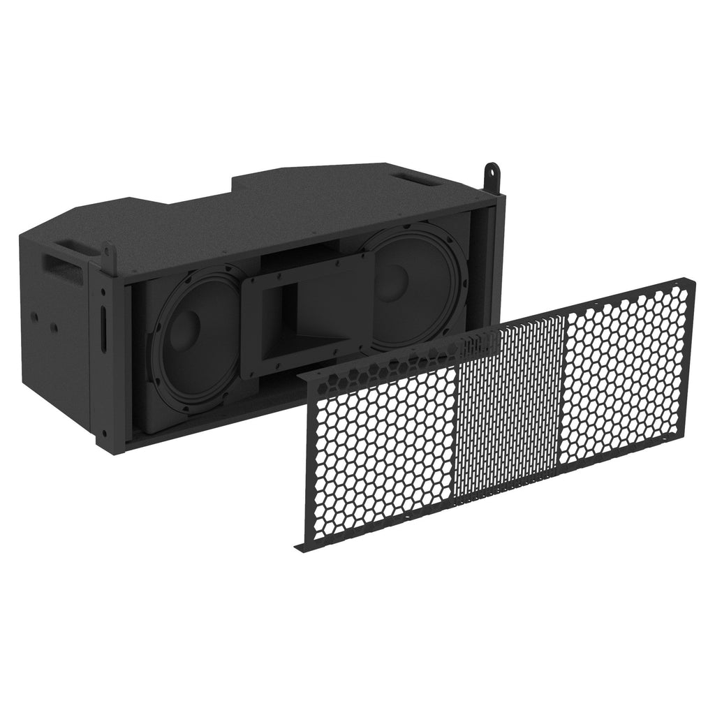 "Sound Town ZETHUS-205V2 ZETHUS Series Dual 5 Inch (2 X 5"") Line Array Loudspeaker System with Titanium Compression Driver, Black 3D Model"