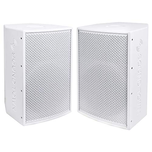"KALE-112WPW-PAIR <br/> 2-Pack 12"" 1400W Powered DJ PA Speaker w/ Bluetooth, Titanium Compression Driver, 3-Channel Mixer, White"