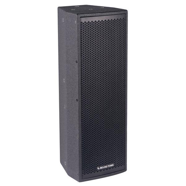 "CARME-208B <br/> CARME Series Dual 8"" 600W 2-Way Professional PA DJ Monitor Speaker, Black w/ Compression Driver for Installation, Live Sound, Karaoke, Bar, Church"