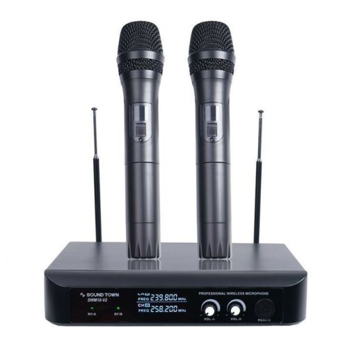 SWM10-V2HH <br/>Professional Dual-Channel VHF Handheld Wireless Microphone System for Church, Business Meeting, Outdoor Wedding and Karaoke