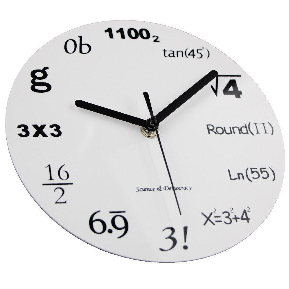 Worksheet Math Clock math clock timelike unique wall modern design novelty maths equation each hour