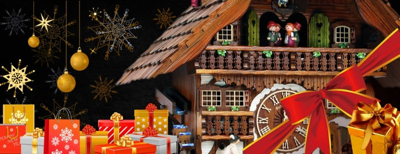 Black Forest Cuckoo Clocks Chime Holiday Magic Timely and Timeless has clocks and free gifts to make your holidays complete