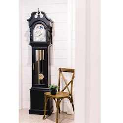 Hermle ALEXANDRIA Grandmother Clock 010890740451, Distressed Black Finish