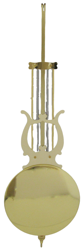 Hermle Clock PENDULUM LYRE 45 CM with 100 mm Polished Bob