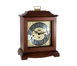 Hermle Bracket-Style Mechanical Mantel Clock Complete DIY Kit, Cherry