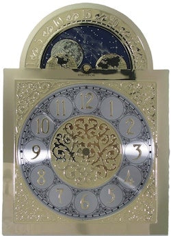 Hermle 451 MoonPhase Grandfather Clock Dial, Low Arch, Made in Germany