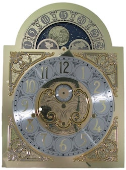 Hermle MoonPhase Grandfather Clock Dial for 1171 -850 and 1171-890 Movements, Made in Germany