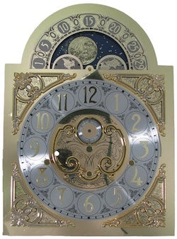 Hermle MoonPhase Grandfather Clock Dial for 1171 -850 and 1171-890 Movements, Oversized