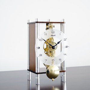 Hermle KERI Mechanical Table Clock 23036030721, Walnut Finish