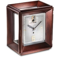 Kieninger 1271-22-01 Gemini, 31-Day Mantel Clock, Dark Walnut, Ltd 100