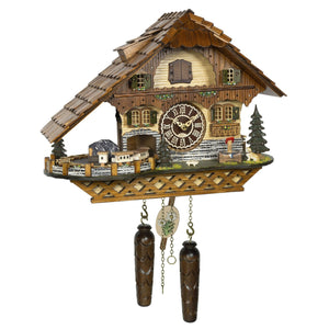 Hermle PHILLIP Quartz Chalet Style Musical Black Forest Cuckoo Clock, Model 77000