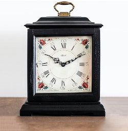 Hermle AUSTEN Bracket-Style Quartz Mantel Clock 22518BQ, Black